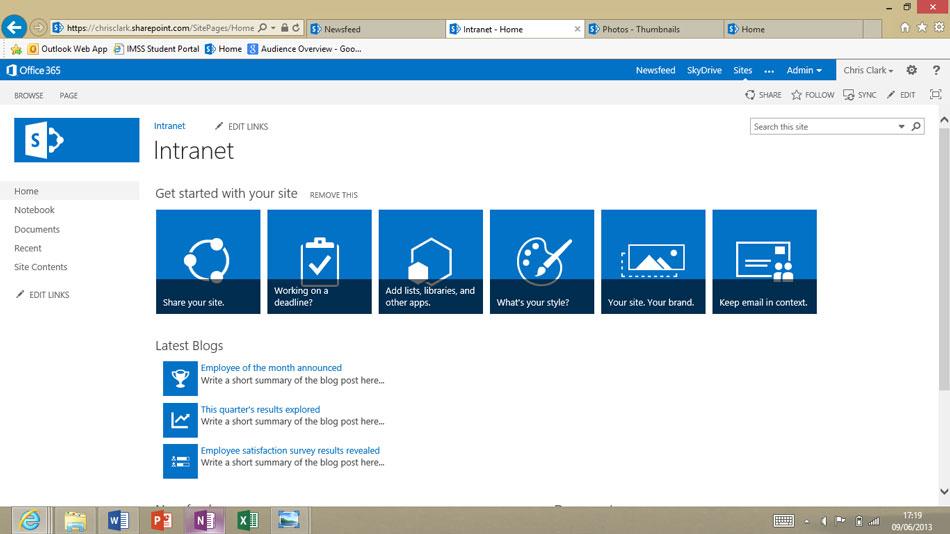 Microsoft Sharepoint Intranet